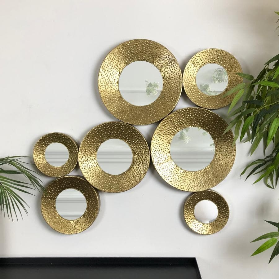 Gold Circles Decorative Wall Mirror The Farthing