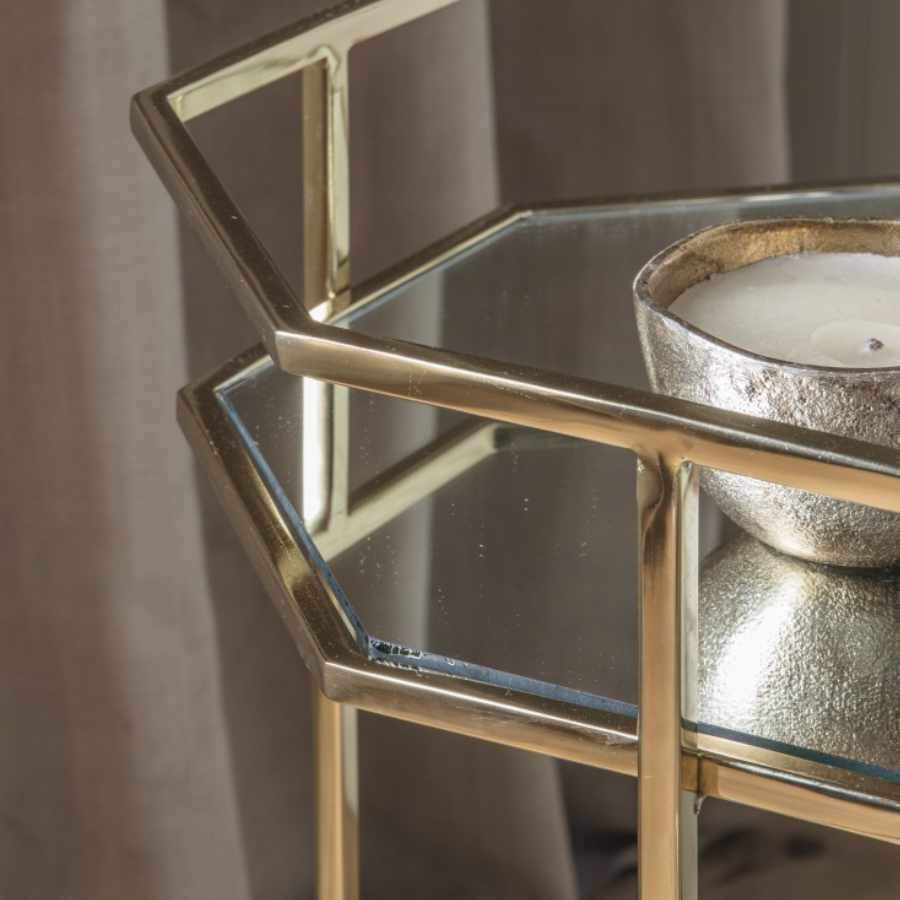 Gold Octagonal Drinks Trolley | Farthing