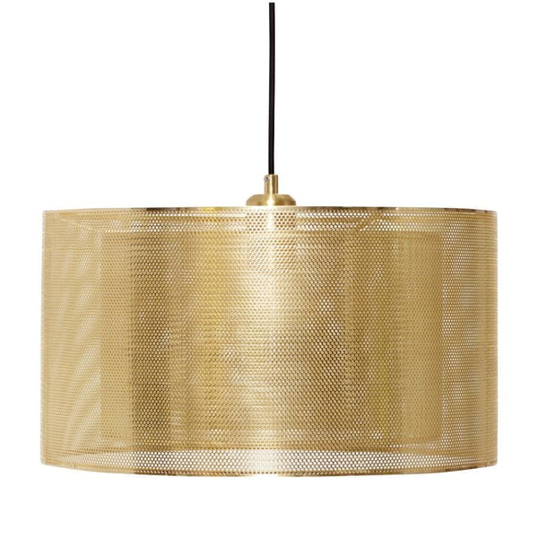 Gold Cylinder Metal Pendant Light  at the Farthing