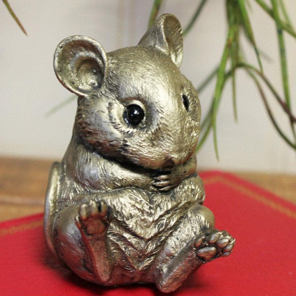 Gold Field Mouse Ornament at the Farthing