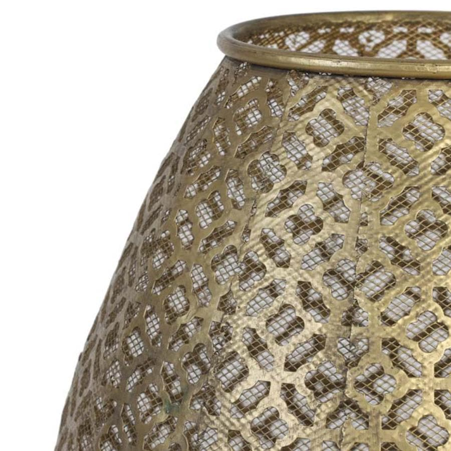Gold Filigree Metal Table Lamp at the Farthing