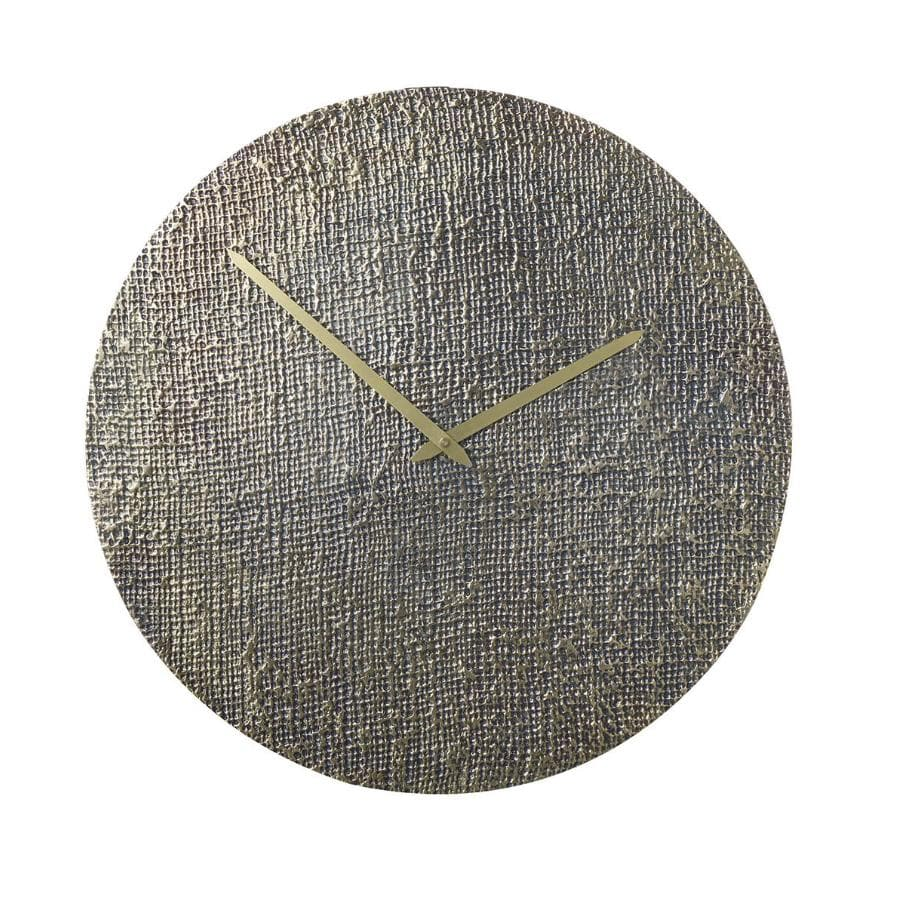 Gold Textured Metal Wall Clock