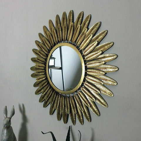 Golden Feather Wall Mirror - The Farthing