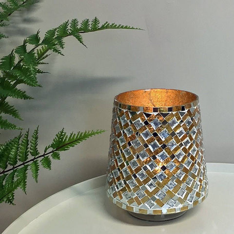 Golden Mosaic Candleholder - The Farthing