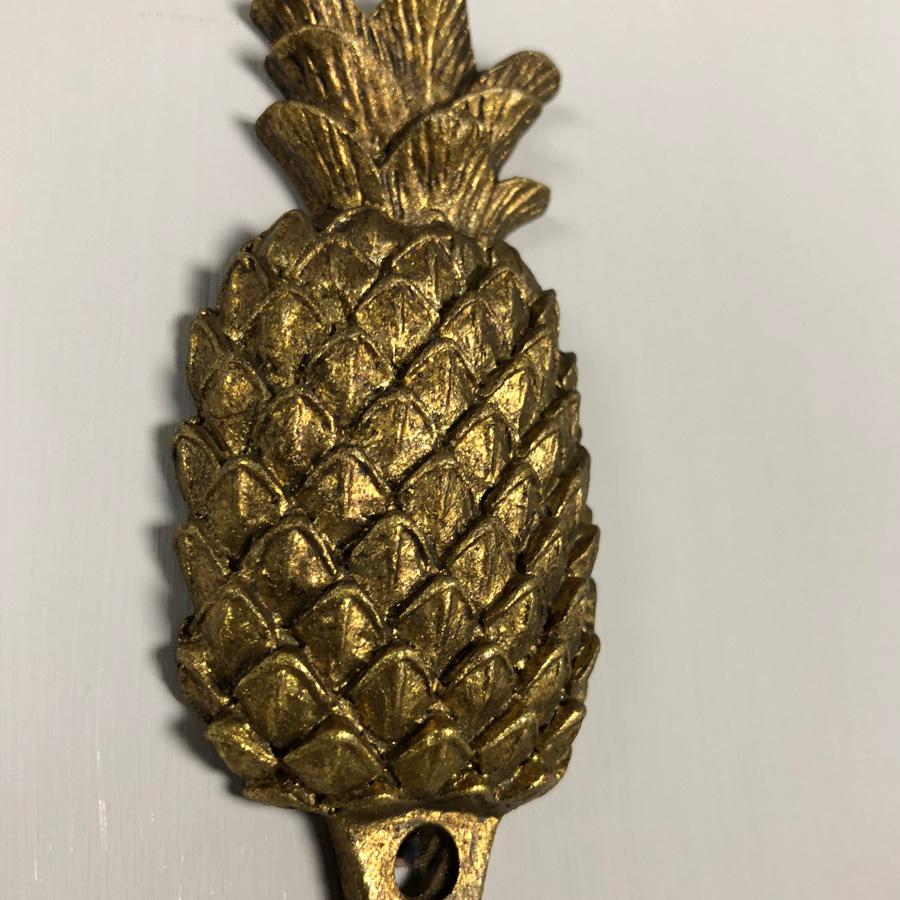 Golden Pineapple Door Hook at the Farthing