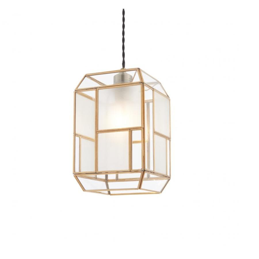 Golden Delicate Frame Rectangle Pendant Light