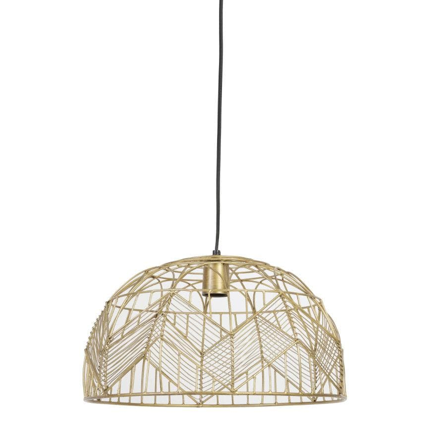 Golden Geometric Wire Pendant Light | The Farthing