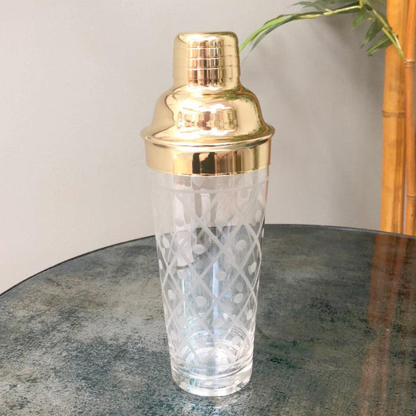 Golden Shimmer Cocktail Shaker at the Farthing