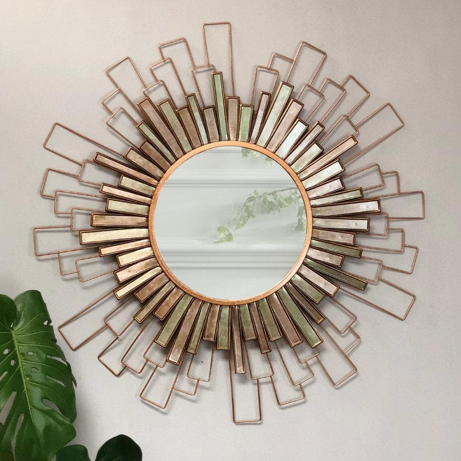 Golden Sunburst Wall Mirror The Farthing Mirrors