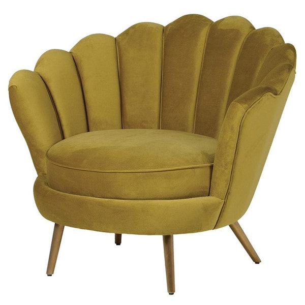 Golden Velvet Petal Chair at the Farthing