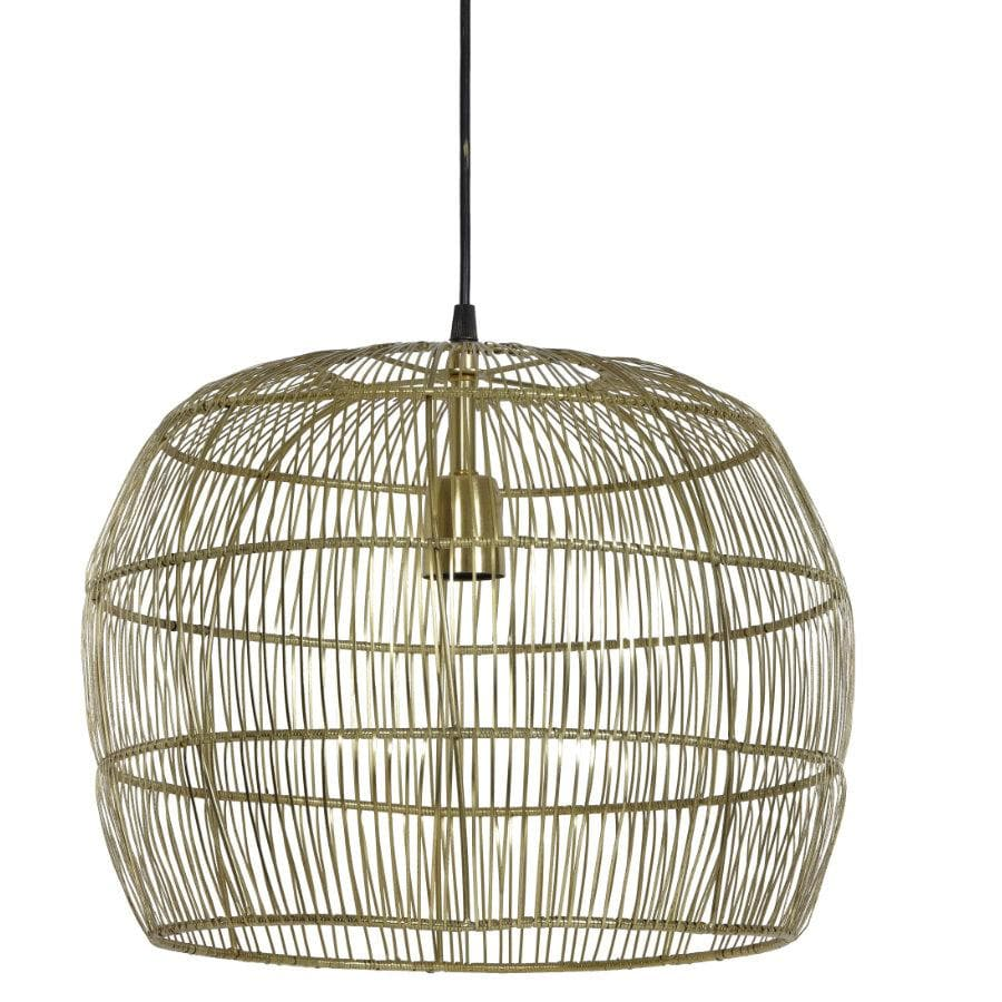 Golden Wire Dome Pendant Light at the Farthing