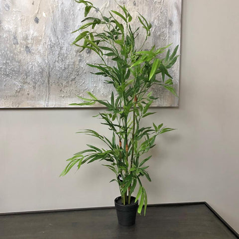 Green Faux Bamboo Tree at the Farthing  1