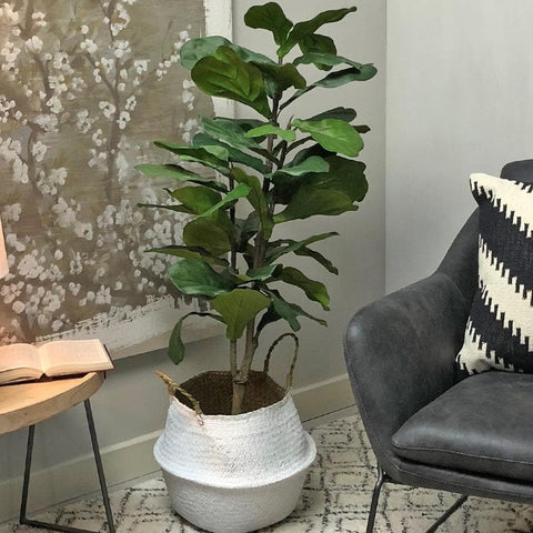 Green Faux Fiddle Leaf Fig Tree | Farthing 3