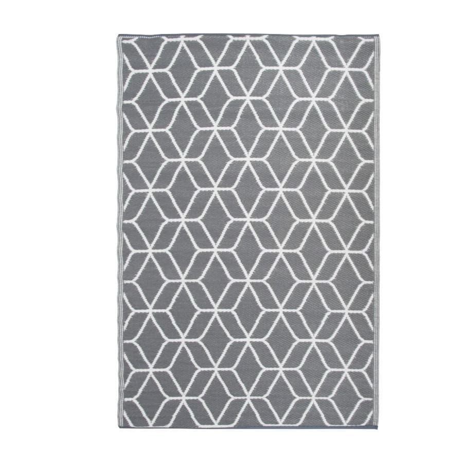 Grey & White Rectangle Outdoor Rug at the Farthing