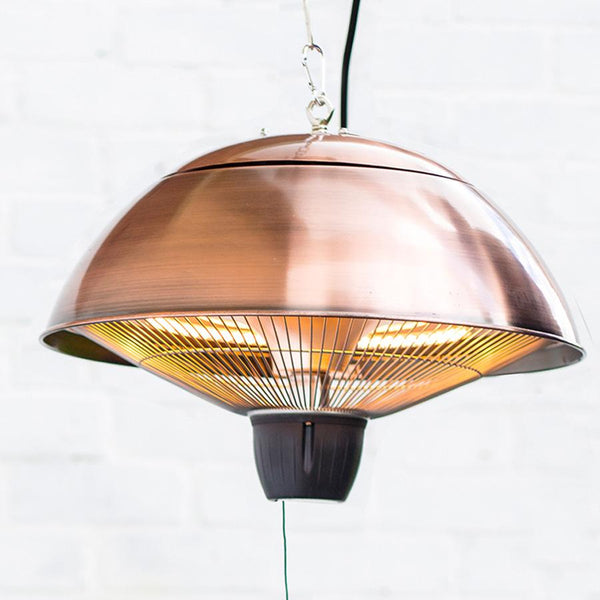 Hanging Burnished Copper Outdoor Heater | Farthing