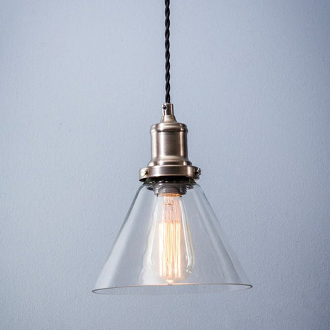 Hoxton Chic Cone Glass Pendant - The Farthing