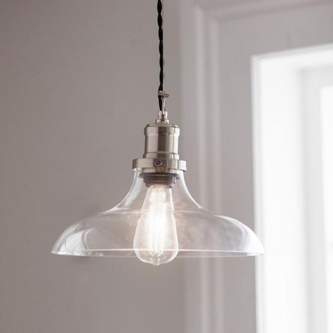 Hoxton Pendant Light, Large - Glass | Farthing