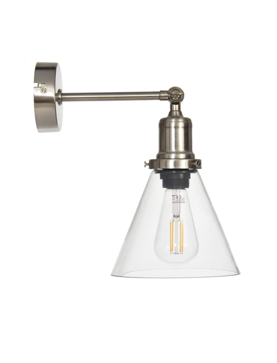Satin Nickel Hoxton Cone Wall Light