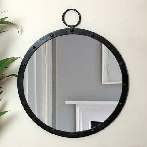 Industrial Round Wall Mirror - The Farthing