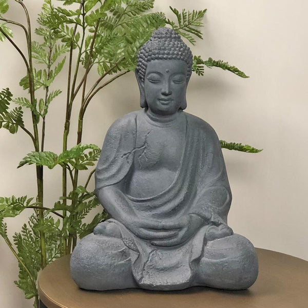 Indoor Outdoor Rustic Meditating Buddha at the Farthing