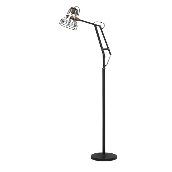 Industrial Angled Floor Lamp - Bronze & Black | Farthing