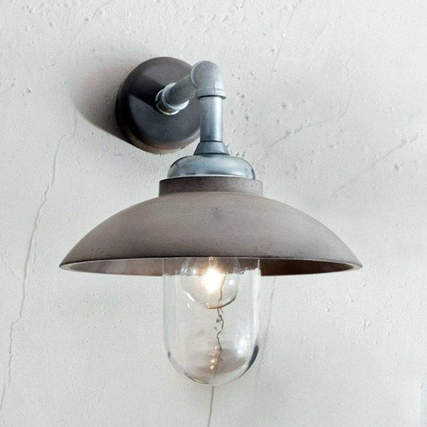 Industrial Canopy Wall Light - Polymer Concrete - The Farthing