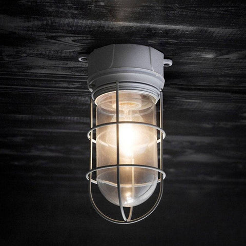 Industrial Chic Chatham Ceiling Mount Cage Light - The Farthing  - 1