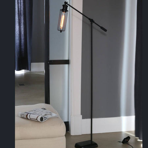 Industrial Chic Metal Factory Floor Lamp - The Farthing  - 1