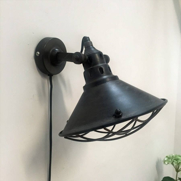 Industrial Chic Lighting In Industrial Chic Metal Wall Light In Fig Grey The Farthing Black Chic Wall Lighting
