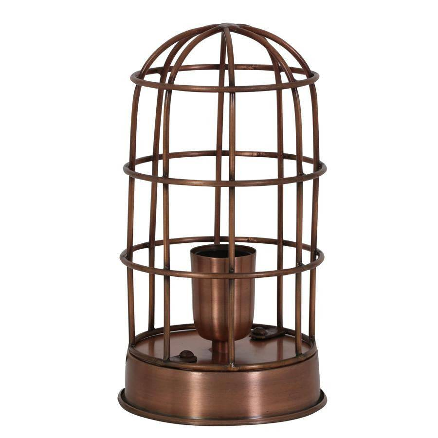 Industrial Copper Cage Table Lamp | Farthing