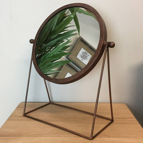 Industrial Copper Table Mirror at the Farthing