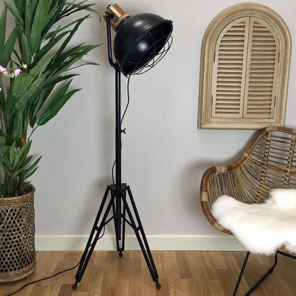 Industrial Factory Tri Pod Lamp - The Farthing