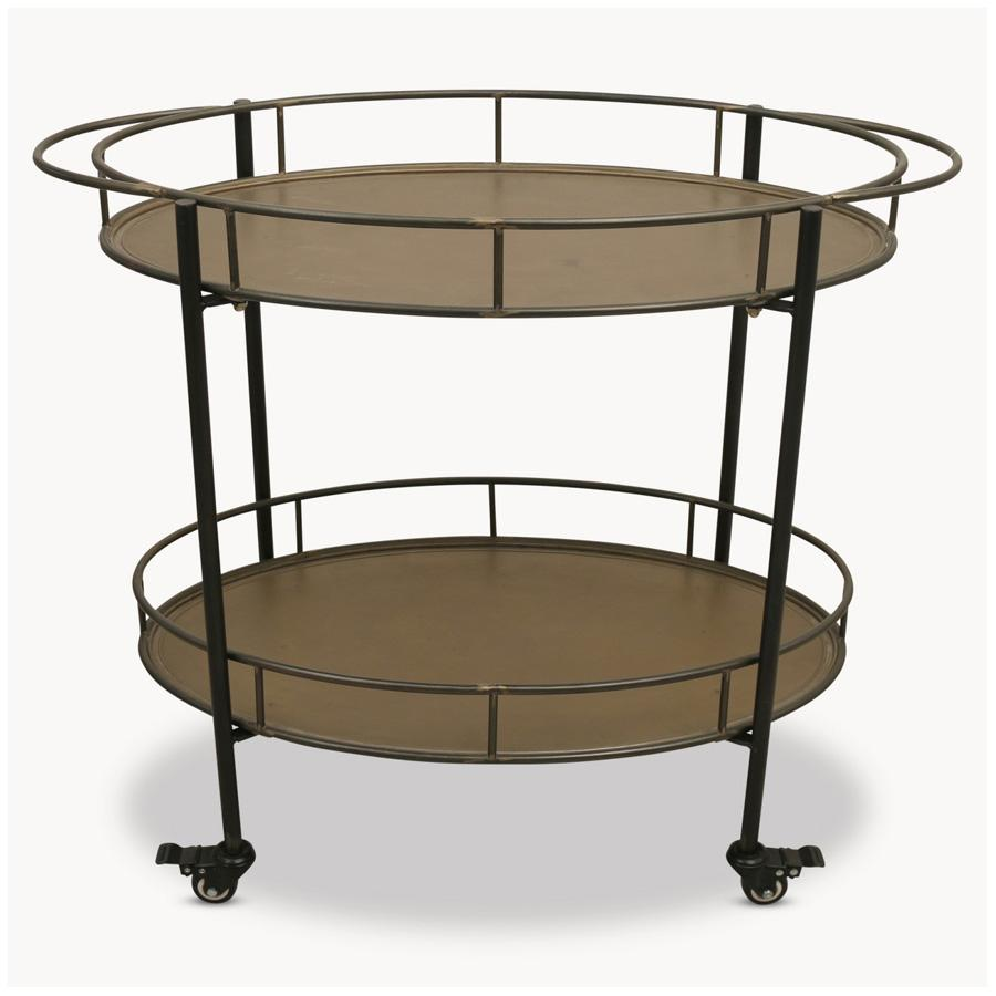 Industrial Golden Drinks Trolley | Farthing