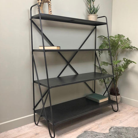 Industrial Hairpin Metal Shelves at the Farthing