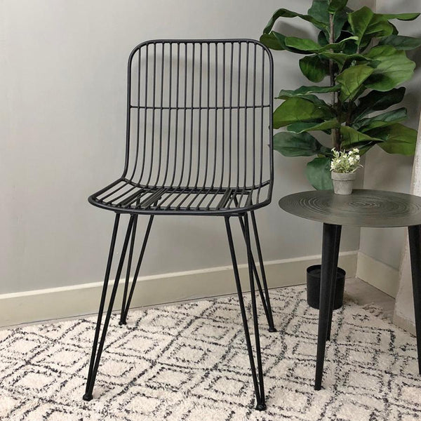 Industrial Iron Dining Chair - Black | Farthing  2