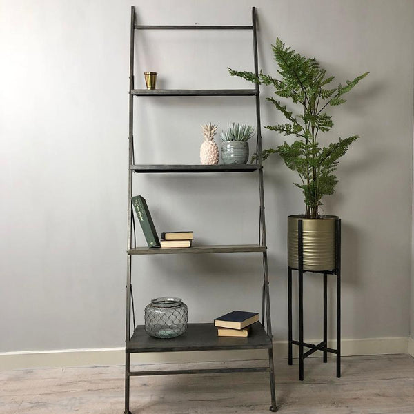 Industrial Metal Shelf Ladder at the Farthing