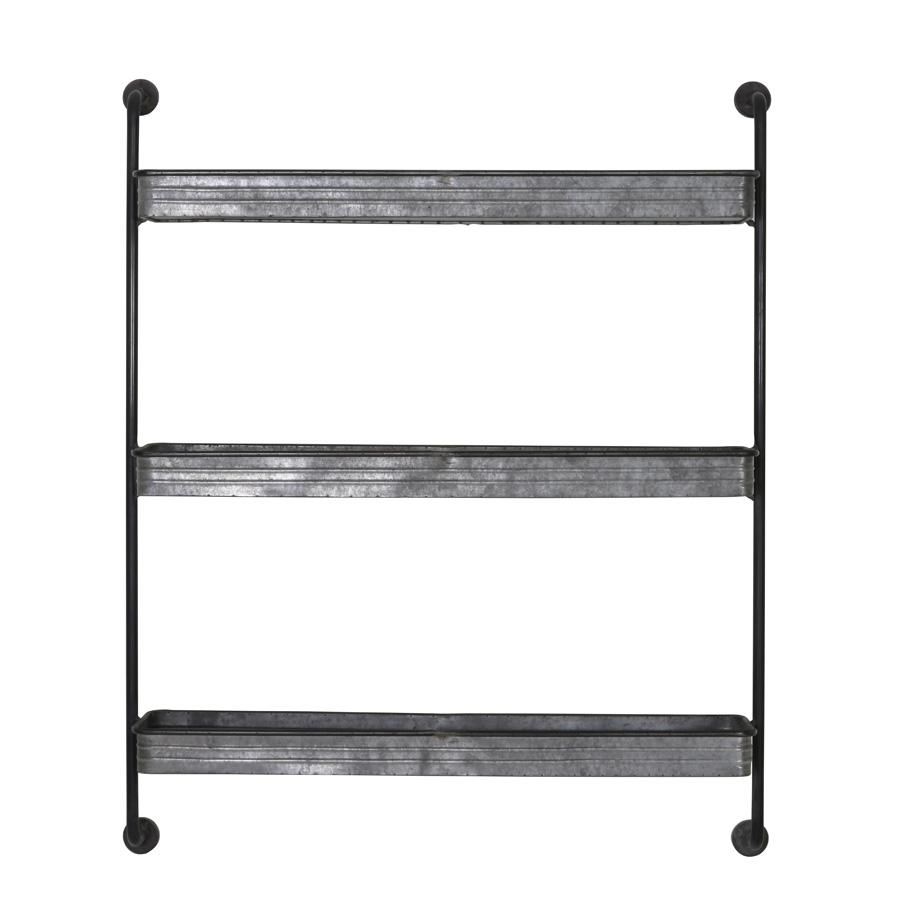 industrial metal shelves wall rack at the farthing - Industrial Metal Shelving