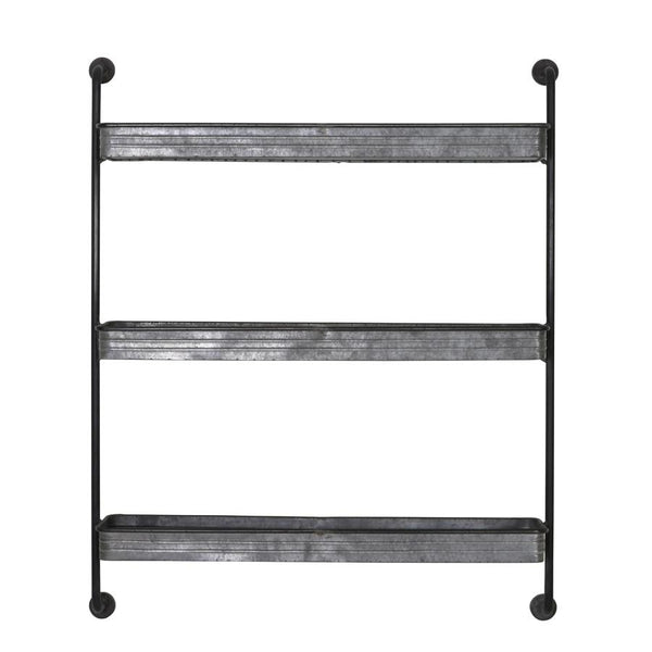Industrial Metal Shelves Wall Rack at the Farthing