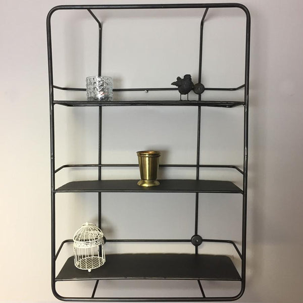 Industrial Metal Wall Shelf Unit at the Farthing