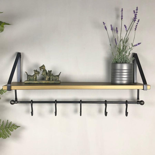 Industrial Metal Wall Shelf & Hooks at the Farthing 3