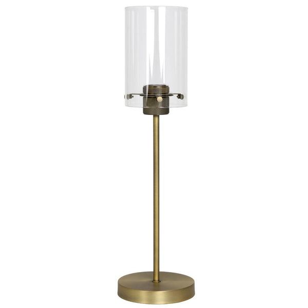 Industrial Metal & Glass Table Lamp - Bronze at the Farthing