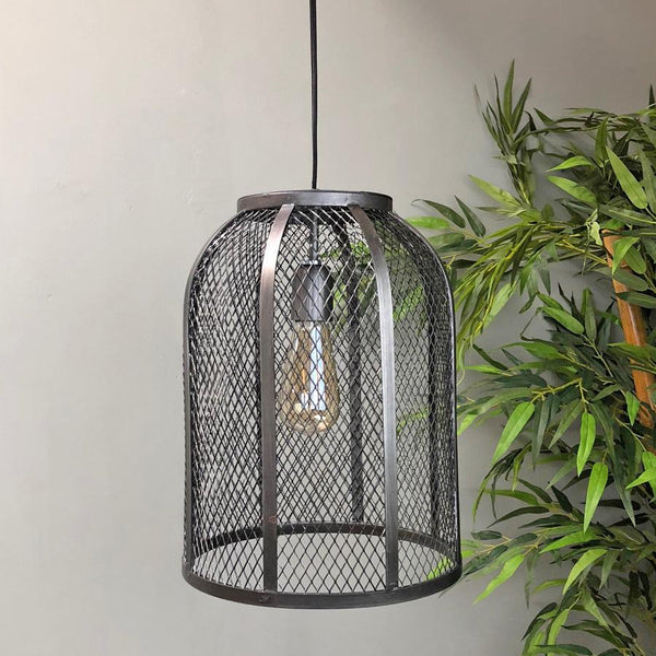 Industrial Pilsdon Wire Cage Pendant Lamp | The Farthing 2