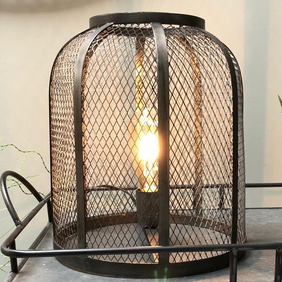 Industrial Pilsdon Wire Cage Table Lamp at the Farthing 1