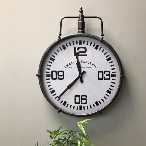 Industrial Pocket Watch Wall Clock at the Farthing