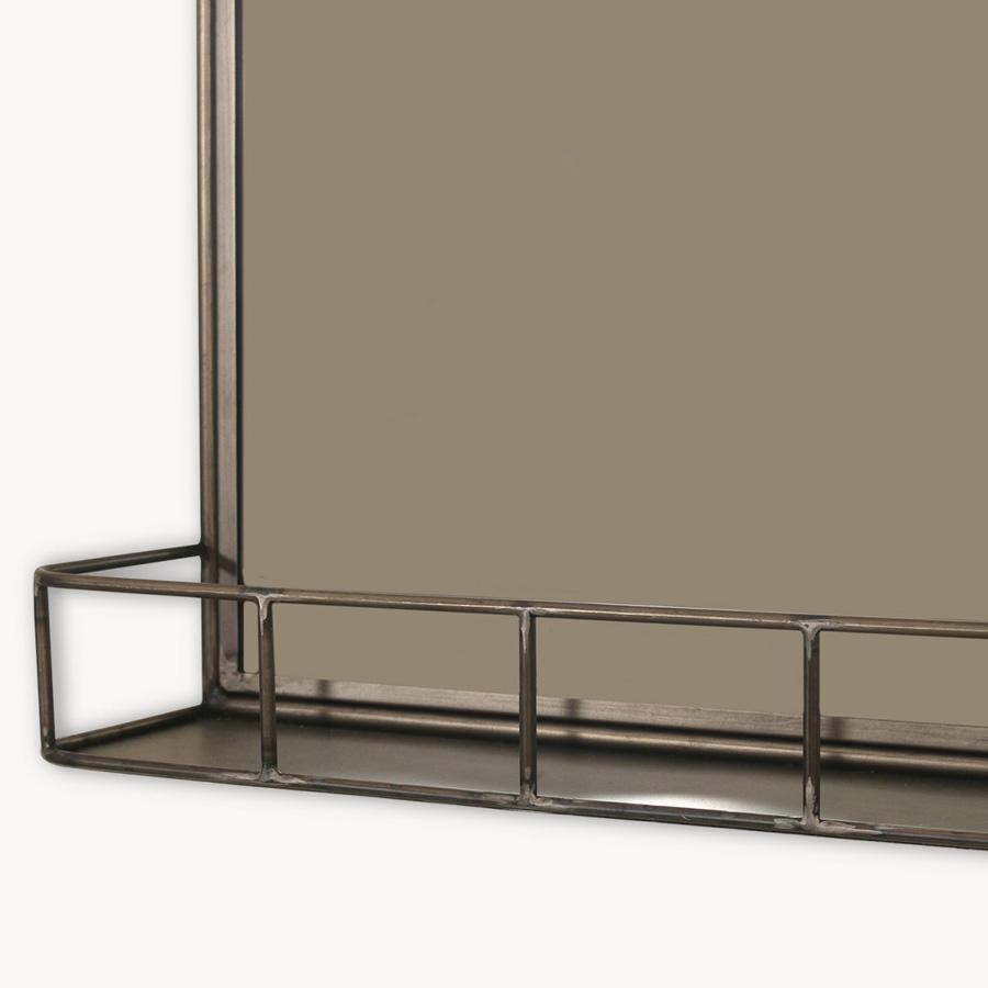 Industrial portrait wall mirror shelf shabby chic mirrors the industrial portrait wall mirror shelf amipublicfo Image collections