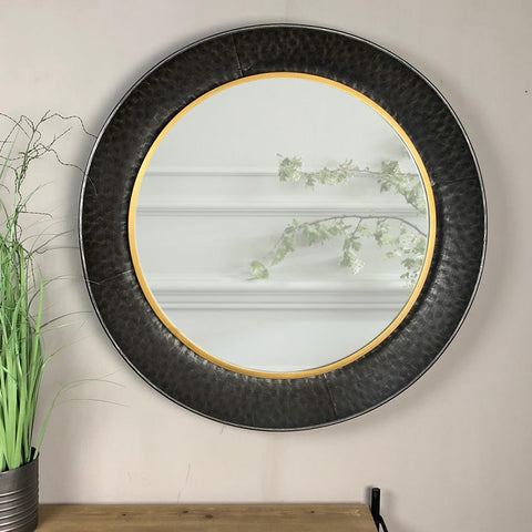 Industrial Round Kimberley Wall Mirror | Farthing 12