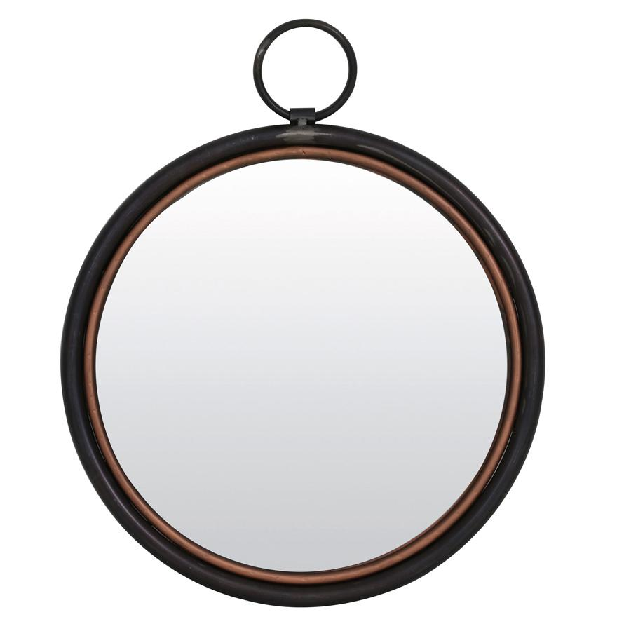industrial round wall mirror copper at the farthing - Round Wall Mirror