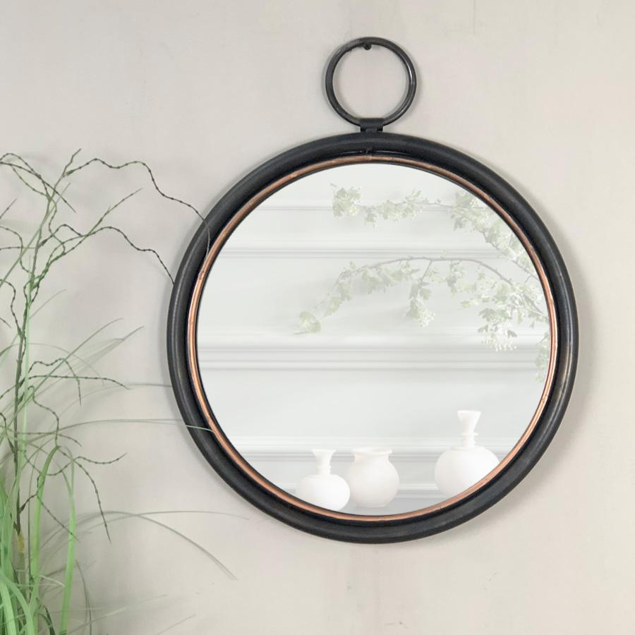 industrial round wall mirror the farthing