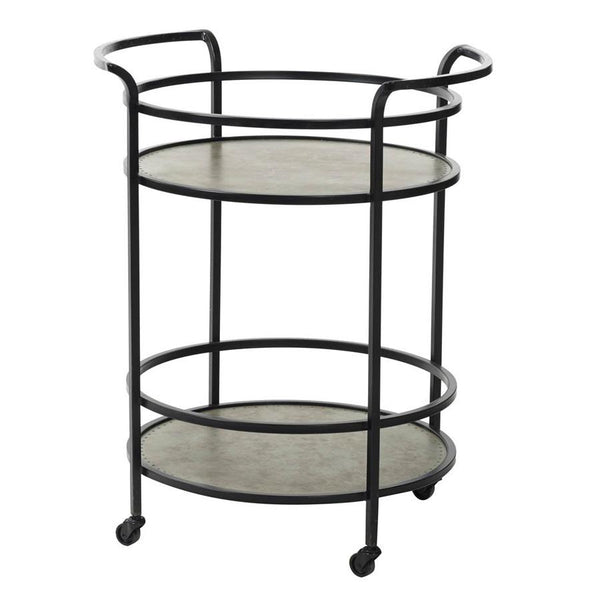 Industrial Steel Drinks Trolley at the Farthing