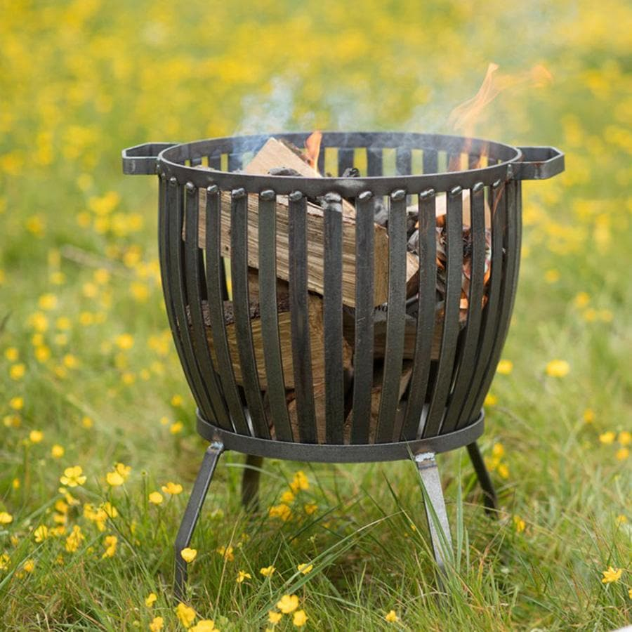 Barrington Fire Pit, Small - Raw Metal | Farthing  2